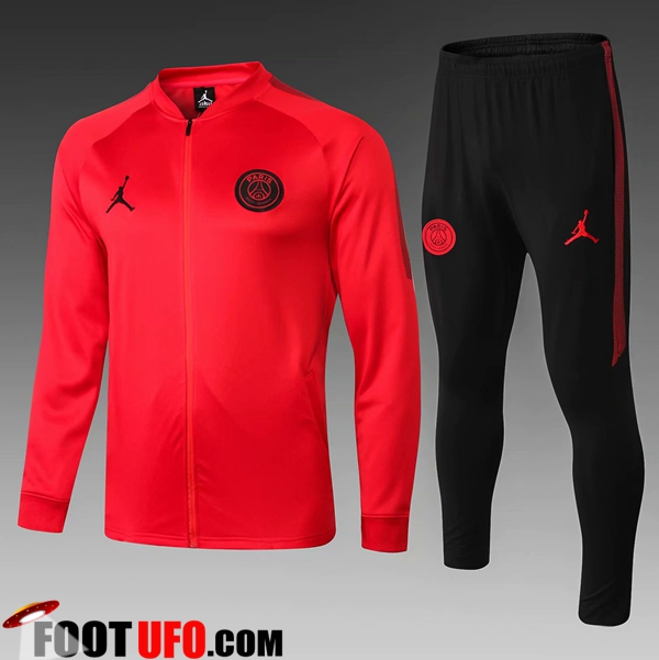 Ensemble Survetement de Foot - Veste Jordan PSG Enfant Rouge 2018/2019