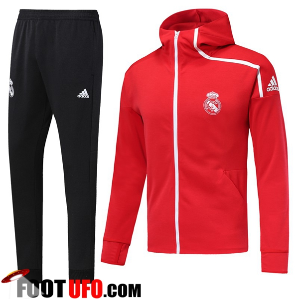 Ensemble Veste Coupe Vent Real Madrid Rouge 2018/2019