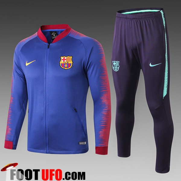 Ensemble Survetement de Foot - Veste FC Barcelone Enfant Bleu/Rouge 2018/2019