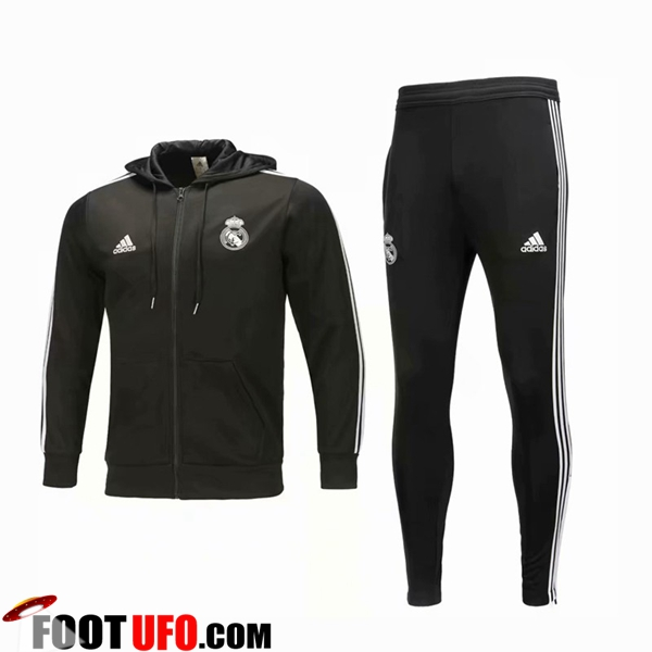 Ensemble Sweat A Capuche Survetement Real Madrid Noir 2018/2019