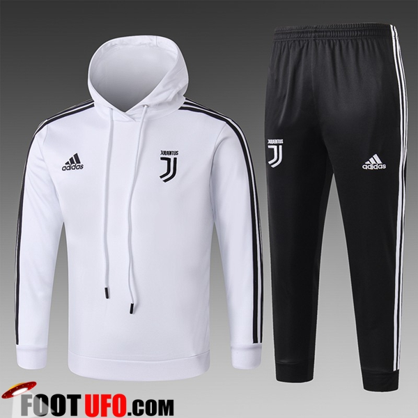 Ensemble Sweat A Capuche Survetement Juventus Enfant Blanc 2018/2019