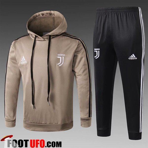 Ensemble Sweat A Capuche Survetement Juventus Enfant Jaune 2018/2019