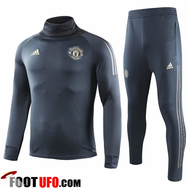 Ensemble Survetement de Foot Manchester United Gris Col haut 2018/2019