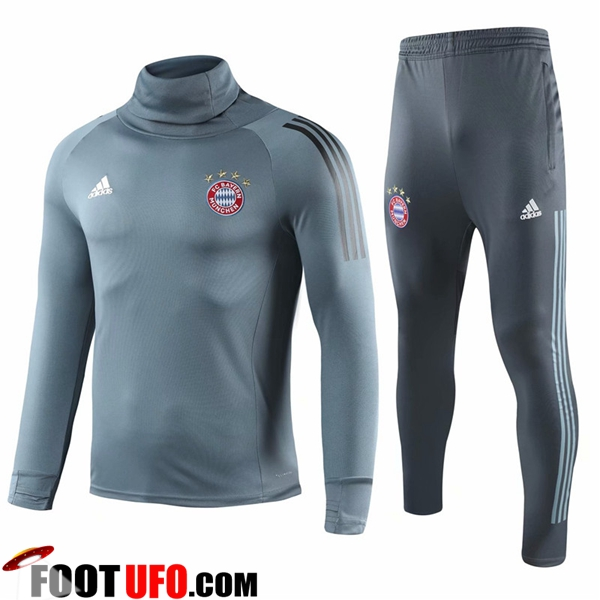 Ensemble Survetement de Foot Bayern Munich Gris Col haut 2018/2019