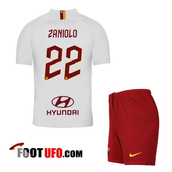 Maillot de Foot AS Roma (ZANIOLO 22) Enfant Exterieur 2019/2020