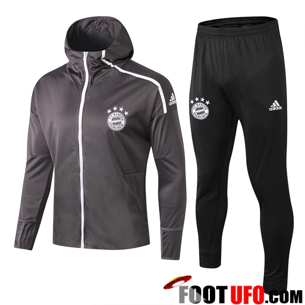 Ensemble Sweat A Capuche Survetement Bayern Munich Gris 2019/2020