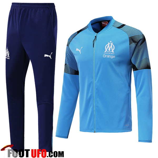 Ensemble Survetement de Foot - Veste Marseille OM Bleu 2019/2020