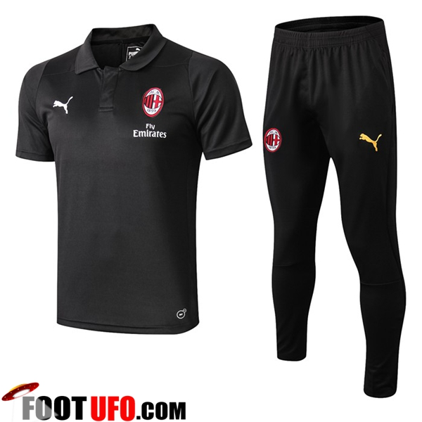 Ensemble Polo Milan AC + Pantalon Noir 2019/2020