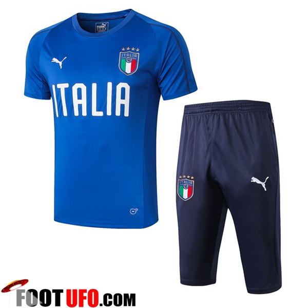 Ensemble PRÉ MATCH Training Italie + Pantalon 3/4 Bleu 2019/2020