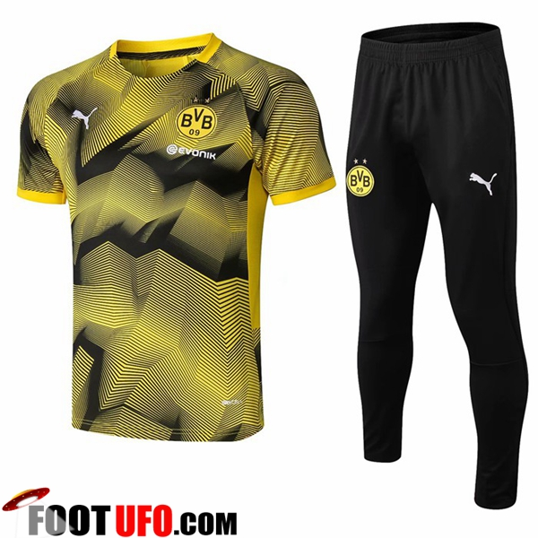 Ensemble PRÉ MATCH Training Dortmund BVB + Pantalon Ondulation Jaune 2019/2020
