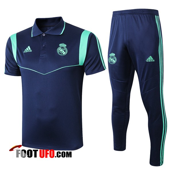 Ensemble Polo Real Madrid + Pantalon Bleu Fonce 2019/2020