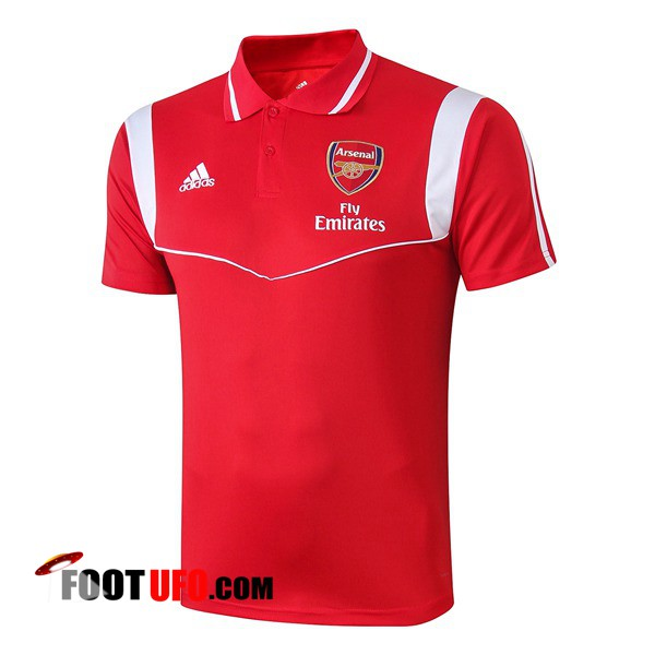 Polo Foot Arsenal Rouge Blanc 2019/2020