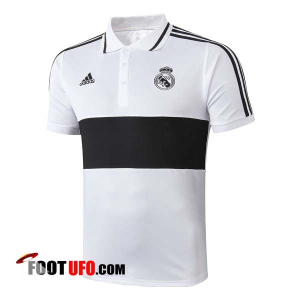 Polo Foot Real Madrid Noir Blanc 2019/2020