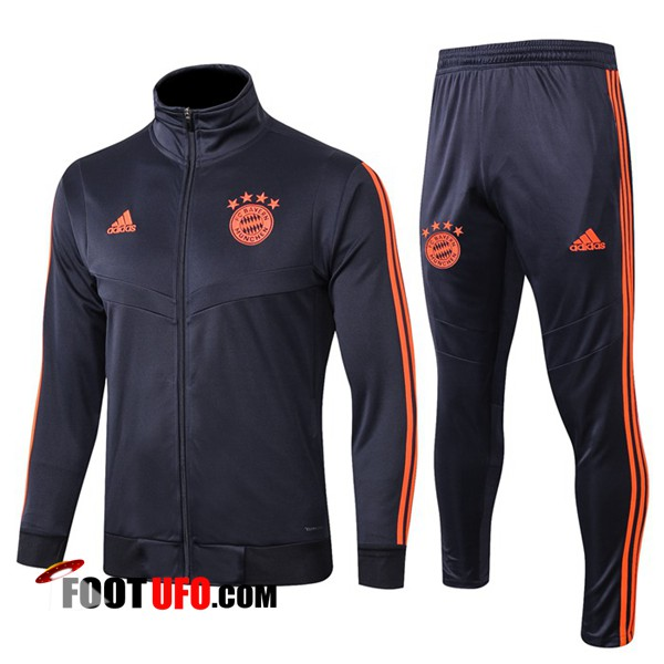 Ensemble Survetement de Foot - Veste Bayern Munich Gris Fonc 2019/2020