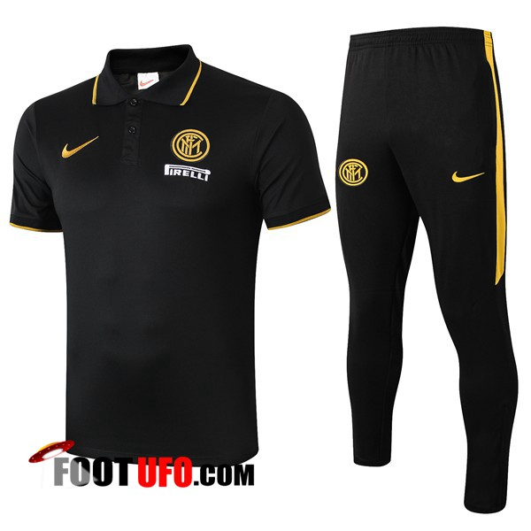 Ensemble Polo Inter Milan + Pantalon Noir 2019/2020
