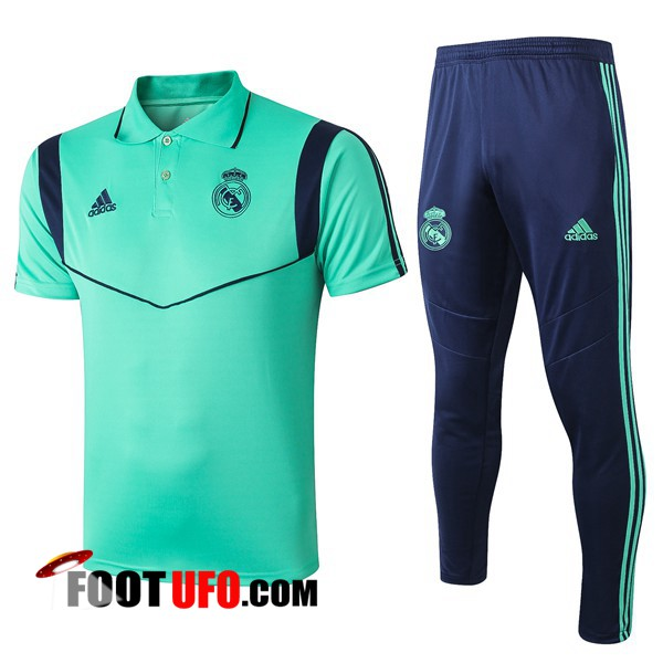 Ensemble Polo Real Madrid + Pantalon Vert 2019/2020