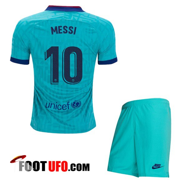 Maillot de Foot FC Barcelone (MESSI 10) Enfant Third 2019/2020