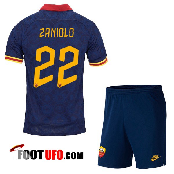 Maillot de Foot AS Roma (ZANIOLO 22) Enfant Third 2019/2020