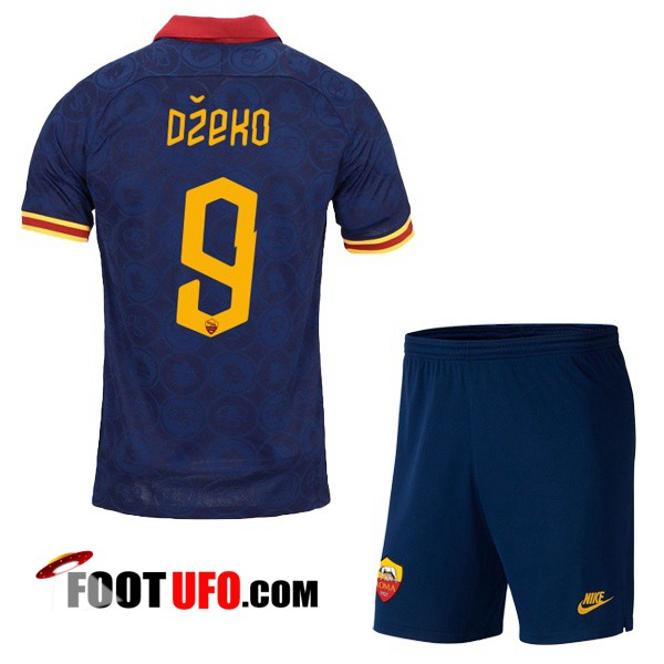 Maillot de Foot AS Roma (DZEKO 9) Enfant Third 2019/2020