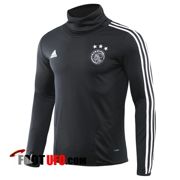 Sweatshirt Training AFC Ajax Noir Col haut 2019/2020