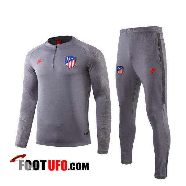 Nouveaux: 11Foots-fr Ensemble Survetement Foot Atletico Madrid Gris 2019/2020