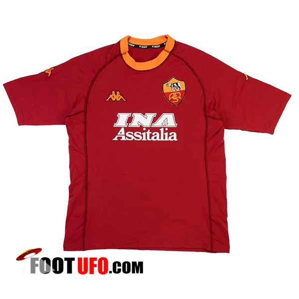 Retro: 11Foots-fr Maillot de Foot AS Roma Domicile 2000/2001
