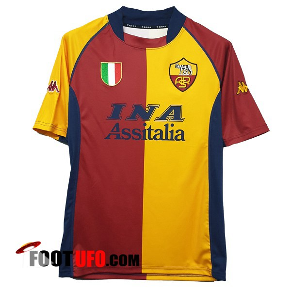 Retro: 11Foots-fr Maillot de Foot AS Roma Domicile 2001/2002
