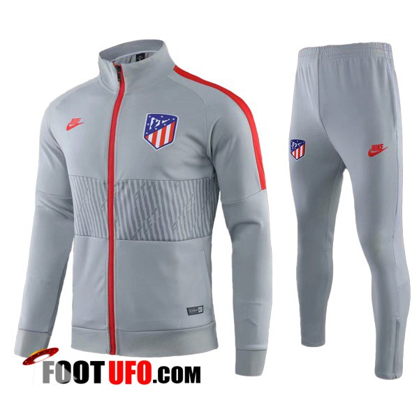 Nouveaux: 11Foots-fr Ensemble Survetement de Foot - Veste Atletico Madrid Gris 2019/2020