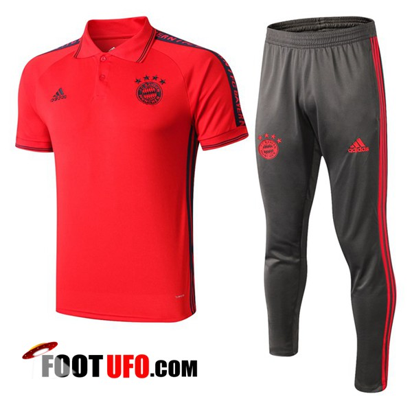 Ensemble Polo Bayern Munich + Pantalon Rouge 2019/2020