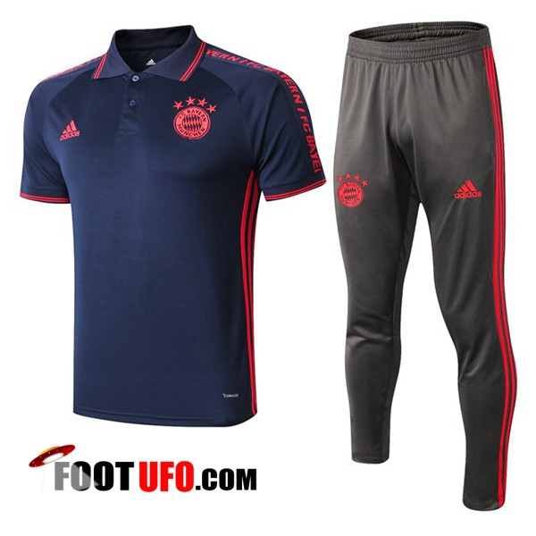 Ensemble Polo Bayern Munich + Pantalon Bleu Fonce 2019/2020