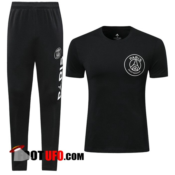 Ensemble Training T-Shirts PSG + Pantalon Noir 2019/2020