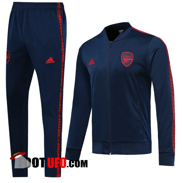 Ensemble Survetement de Foot - Veste Arsenal Bleu Fonce 2019/2020