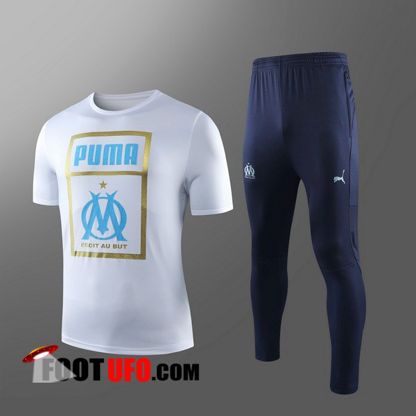 Ensemble Training T-Shirts Marseille OM Enfants + Pantalon Rouge 2019/2020