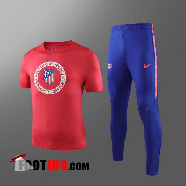 Nouveaux: 11Foots-fr Ensemble Training T-Shirts Atletico Madrid Enfants + Pantalon Rouge 2019/2020