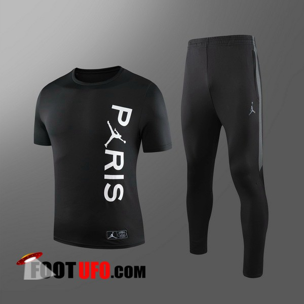 Ensemble Training T-Shirts PSG Jordan Enfants + Pantalon Noir 2019/2020