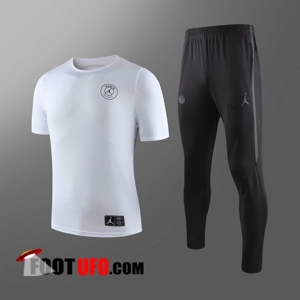Ensemble Training T-Shirts PSG Enfants + Pantalon Blanc 2019/2020