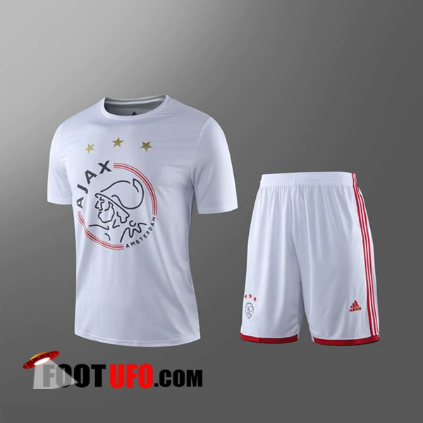 Maillot de Foot AFC Ajax + Shorts Enfants Blanc 2019/2020