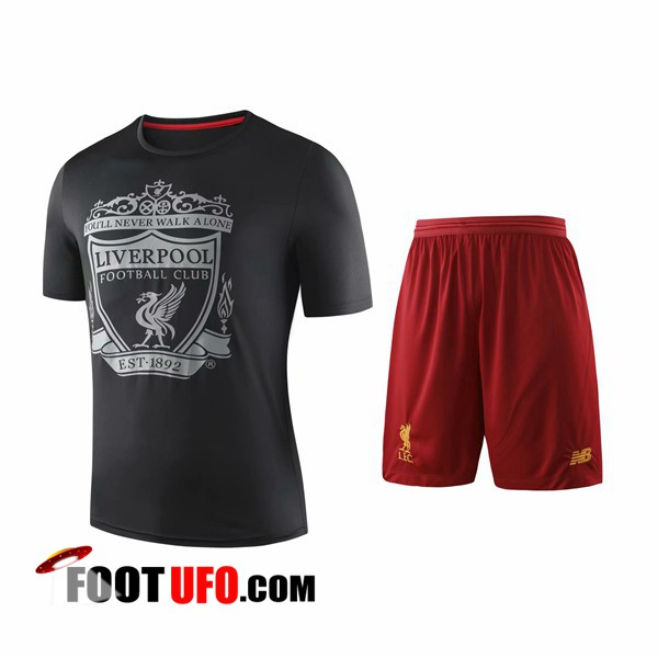 Ensemble Training T-Shirts FC Liverpool + Shorts Noir 2019/2020