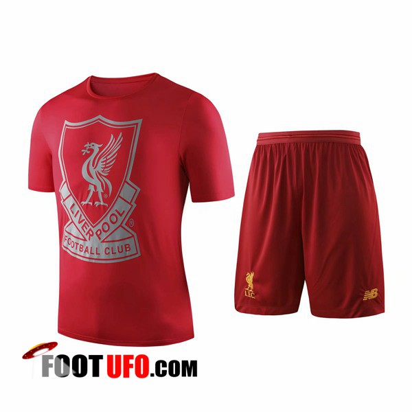 Ensemble Training T-Shirts FC Liverpool + Shorts Rouge 2019/2020