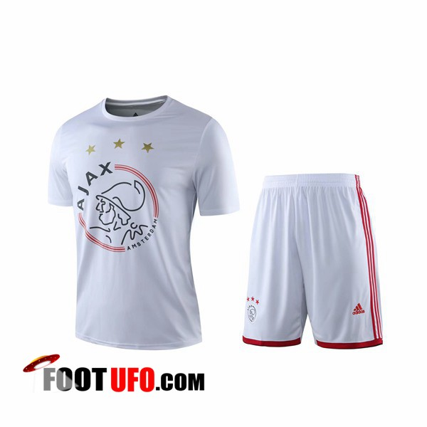 Ensemble Training T-Shirts AFC Ajax + Shorts Blanc 2019/2020