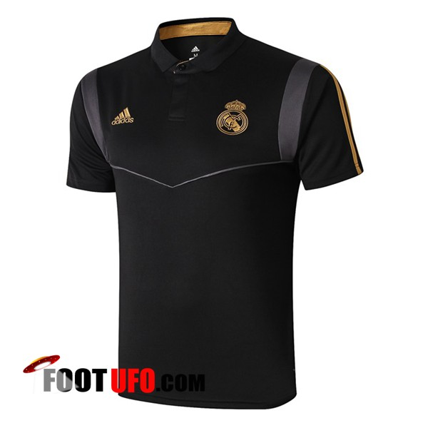 Polo Foot Real Madrid Noir Gris 2019/2020