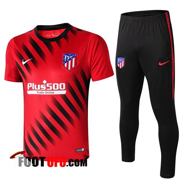 Ensemble Training T-Shirts Atletico Madrid + Pantalon Rouge/Noir 2019/2020