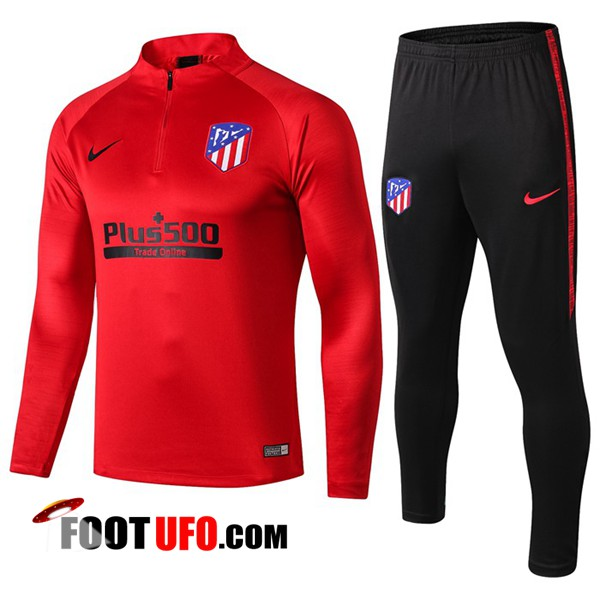 Nouveaux: 11Foots-fr Ensemble Survetement de Foot Atletico Madrid Rouge 2019/2020