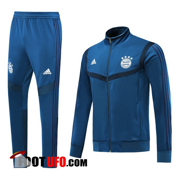 Ensemble Survetement de Foot - Veste Bayern Munich Bleu 2019/2020