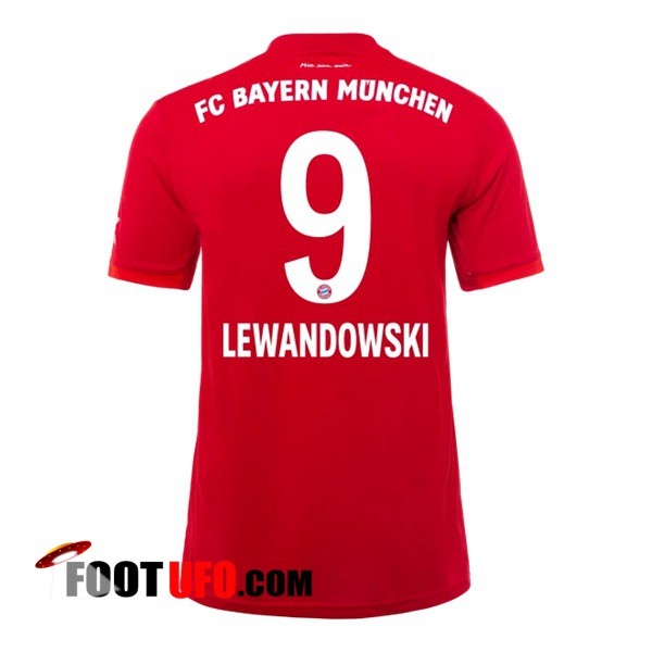 Maillot de Foot Bayern Munich (LEWANDOWSKI 9) Domicile 2019/2020