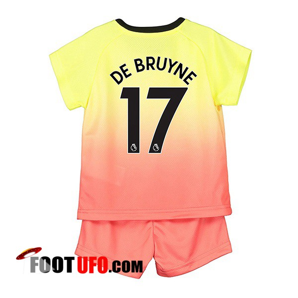 Maillot de Foot Manchester City (DE BRUYNE 17) Enfant Third 2019/2020