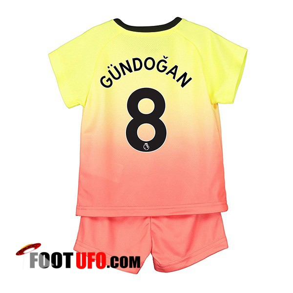 Maillot de Foot Manchester City (GUNDOGAN 8) Enfant Third 2019/2020