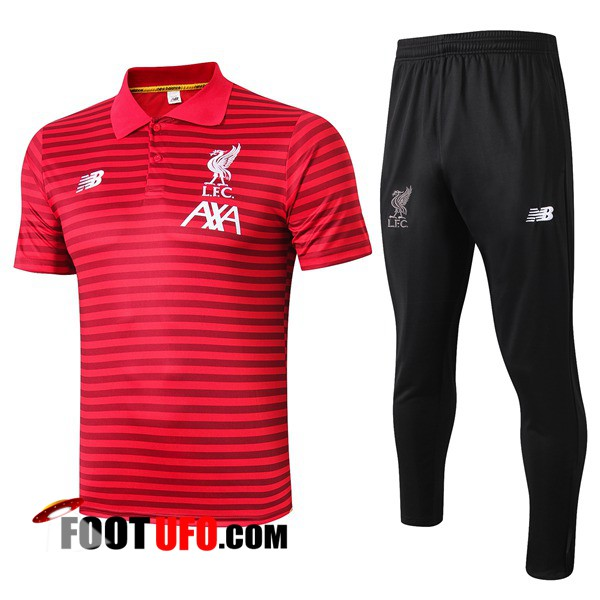 Ensemble Polo FC Liverpool + Pantalon Rouge Stripe 2019/2020