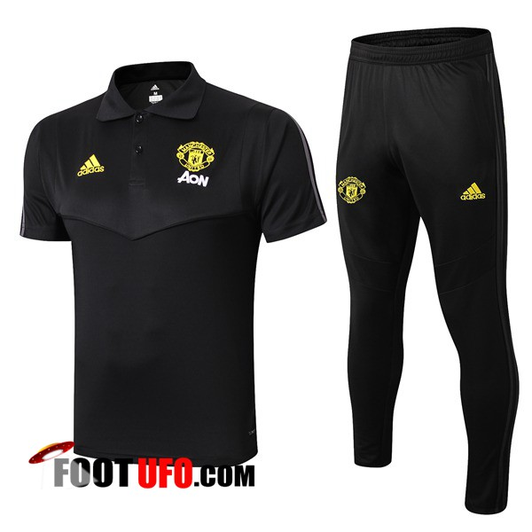 Ensemble Polo Manchester United + Pantalon Noir 2019/2020