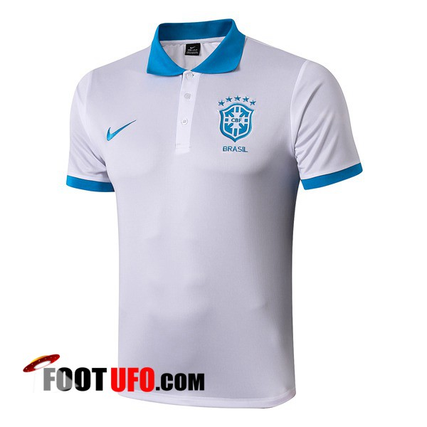 Polo Foot Bresil Blanc 2019/2020